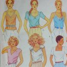 McCall 7077 sewing pattern misses blouses tops stretch knits sz M 14-16 1980
