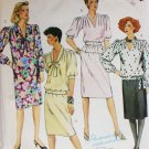 McCall 2364 sewing pattern misses pullover top, skirt, dress sz 16