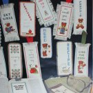Cross stitch pattern booklet Bookmarkers or Just Frame em' by Dale Burdett
