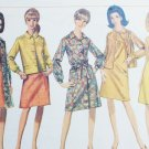 Simplicity 7013 vintage 1967 sewing pattern dress & coat dress size 16 B36