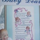Cross stitch pattern leaflet Baby Dear by Leisure Arts 878  poem by G. Macdonald