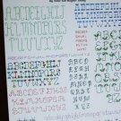 Cross stitch pattern 2 backstitch alphabets mini series 2 leaflet Leisure Arts 407