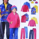 McCall 4964 sewing pattern child & boy jacket vest pants & hat sz xsm & small uncut