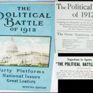 The Political Battle of 1912 Official Edition first issue with rare book selling tips