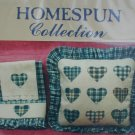 Cross stitch pattern Homespun collection plaid hearts for pillows or accents