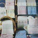 Leisure Arts Leaflet 585 Floral Trims for Fingertips towel 12 cross stitch patterns