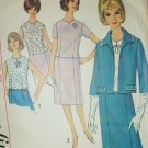 Simplicity 5793 vintage 1964 suit sewing pattern blouse jacket skirt sz16