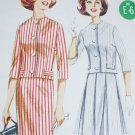 Butterick 2258 sewing pattern vintage 1960's sz 16 pleated or straight skirt collarless jacekt