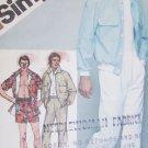 Simplicity 9924 sewing pattern man's jacket pants short men waist 30