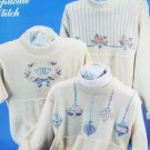 Victorian Country cross stitch pattern duplicate stitch for sweaters Sue Hillis 3 designs