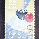 USA USPS stamp pin Public Education 22 cents lapel pin