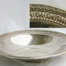 Wallace silverplate 10 inch bowl rose scroll design USA silver plate