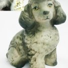 Poodle dog figurine UCTCI Japan ceramic dark gray 3 1/2""