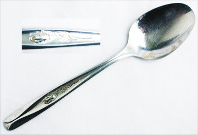 Rogers Cutlery Rosebud stainless IS teaspoon glossy