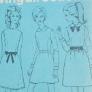 Simplicity 7775 vintage sewing pattern 1968 short waist dress sz 10 B 32 1/2 uncut
