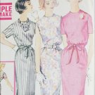 Simplicity 3780 vintage sewing pattern early 1960s slim one piece dress sz 16 B36