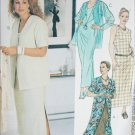 McCall 2124 sewing pattern long dress & jacket sz 26W to 48 uncut 1999