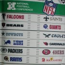 McCall 3422 pattern NFL applique transfer logos & names in 2 sizes all 14 teams unused