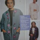 McCall 8696 sewing pattern loose fitting jackets patchwork plus sz S M L XL uncut