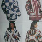 McCall 8338 sewing pattern quilted jacket misses sz small (6-16) or large (18-26) uncut