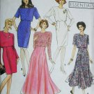 Simplicity 7502 sewing pattern slim or full dress & overbodice sz 12-14