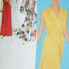 Simplicity 9489 sewing pattern pullover dress gown size 6 knit
