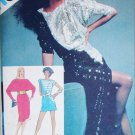 Simplicity 5873 sewing pattern pullover dress diagonal seam dolman sleeves sz 10 uncut
