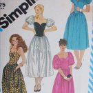 Simplicity 6244 sewing pattern fitted bodice sweatheart neckline dress sz10 uncut