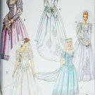 McCall P285 sewing pattern bride bridesmaid prom gown & train size 12 14 16 uncut