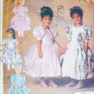 Butterick 6428 Child dress flower girl or fancy drape sides sz 5 6 6x