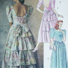 McCall 4636 sewing pattern dress gown sz10 12 14 rufflled back princess bodice