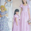 Buttterick 4672 sewing pattern girl's dress flower girl gown sz 12