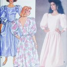 Butterick 3528 sewing pattern mock back wrap dress sz 6 8 10 uncut