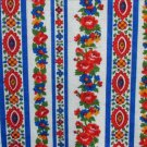 Cranston Print Works VIP fabric vibrant blue red white flower print 1/2 yd