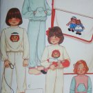 McCall 7797 sewing pattern child pajamas iron on transfer Raggedy Ann Andy sz 4