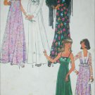 Simplicity 7807 vintage 1976 sewing pattern bare shoulder gown jacket sz 14