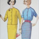 Simplicity 4820 vintage sewing pattern blouse skirt circa 1960 sz 16 B 36