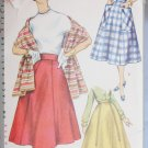 Simplicity 1462 vintage 1955 sewing pattern misses gored skirt waist 28 and stole