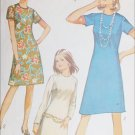 Simplicity 9072 vintage 1970 sewing pattern simple A line dress sz 16 B 38
