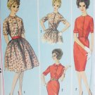 Simplicity 5022 vintage 1958 sewing pattern dress with full or slim skirt sz 16 B 36