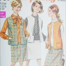 Simplicity 7769 vintage 1968 sewing pattern sleeveless jacket skirt sz 16 1/2