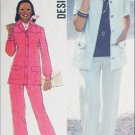 Simplicity 6405 vintage 1974 sewing pattern pantsuit sz 16 B 38