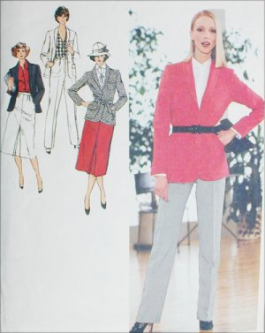 Simplicity 9064 vintage 1979 sewing pattern pants jacket skirt sz14