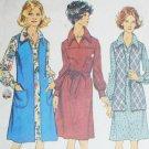 Simplicity 5915 vintage 1973 sewing pattern long vest yoke dress sz 14 1/2