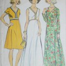 Simplcity 6030 vintage 1973 sewing pattern V neck dress size 22 1/2