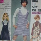 Simplicity 8414 vintage 1969 sewing pattern junior jumper sz 7/8 B29