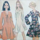 McCall 2057 vintage 1969 sewing pattern mini dress sz 14 B36