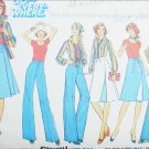 Simplicity 7391 vintage 1976 sewing pattern reversible skirt pants size 16 B38