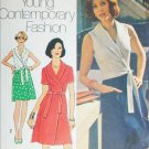 Simplicity 6262 sewing pattern 1974 vintage wrap dress size 12 B34