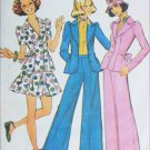 Simplicity 5795 pattern 1973 mini dress jacket wide leg pants size 11 12